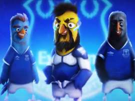 Sigurdsson, Tosun y Theo Walcott, en versión 'Angry Birds'. Twitter/Everton