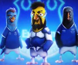 Sigurdsson, Tous et Theo Walcott en version Angry Birds. Twitter/Everton