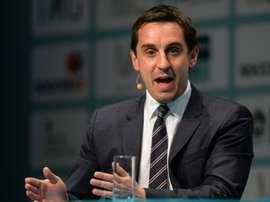 El ex futbolista del Manchester United y nuevo entrenador del Valencia, Gary Neville. AFP