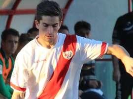 El ex futbolista del Rayo Jorge Shafa, en un partido con el club vallecano. InterDeMadrid
