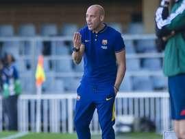 Gabri García dirigía al Juvenil A azulgrana. FCBarcelona