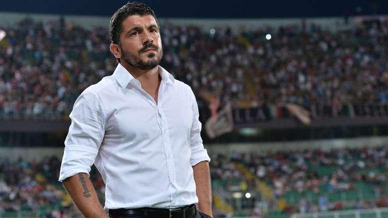 El ex futbolista y entrenador italiano Gennaro Gattuso, en un partido. AFP