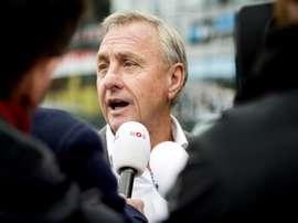El ex jugador y ex entrenador del Barcelona, el holandés Johan Cruyff