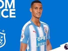 Tom Ince, o novo jogador do Huddersfield Town. Twitter/HuddersfieldTown
