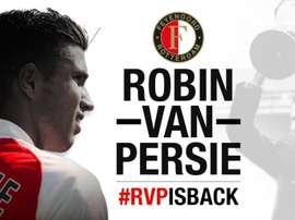 Robin van Persie é reforço de inverno do Feyenoord. Twitter/Feyenoord