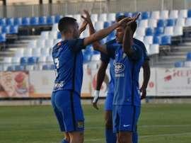 El Fuenlabrada se impuso al Alcorcón por 3-2. CFuenlabradaSAD