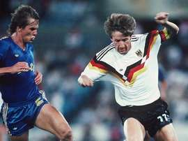 Frank Mill es el futbolista olímpico de Alemania por excelencia. FIFA/Getty