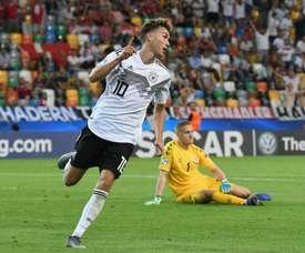 Un jeune allemand sur les tablettes de Chelsea.  Twitter/DFB_Junioren