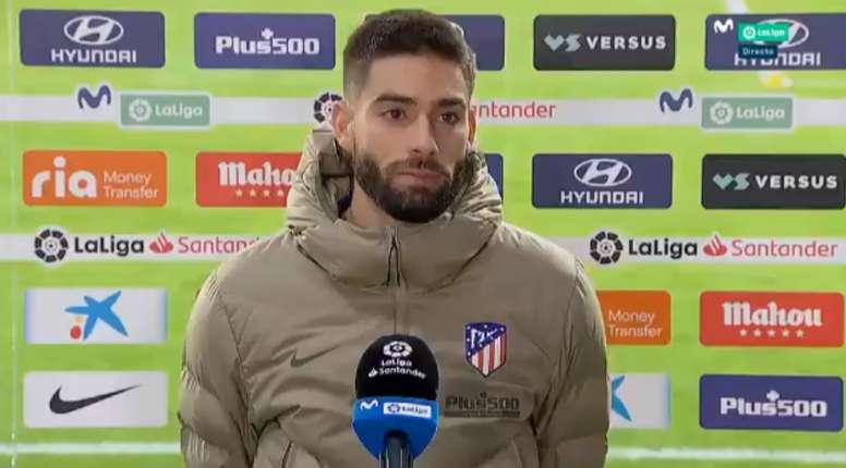Carrasco fue el protagonista del partido gracias a su gol. Captura/Movistar+