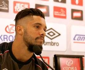 El futbolista brasileño del Tondela Heliardo, cuando militaba en el Joinville brasileño. JEC