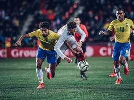 O Brasil venceu a República Checa com 20 minutos de jogo ao seu melhor nível. Twitter/ceskarepre_cz