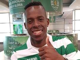 Cristian Borja foi anunciado pelo Sporting. Twitter/Sporting_CP