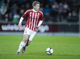 Thomas Augustinussen colgará las botas al final de la temporada. AabSport