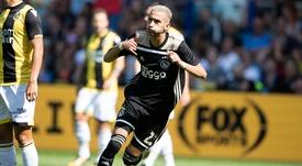 Hakim Ziyech ya lleva un tiempo sonando para salir del Ajax. Ajax/Archivo