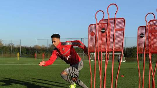 Cohen Bramall is finally living the dream. Arsenal