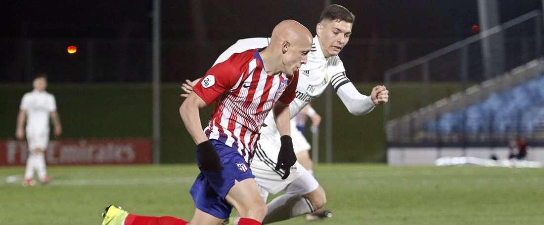 Mollejo prolonge son contrat avec l'Atlético Madrid. Twitter/AtletiAcademia