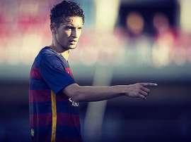 El futbolista del Barcelona B, David Babunski. Twitter