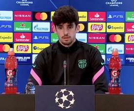 Francisco Trincao spoke in the press conference. Screenshot/BarçaTV+