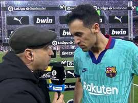 Busquets justificou a derrota do Barça. Movistar+