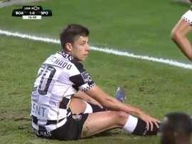 Edu Machado completó un partido para olvidar. VSports
