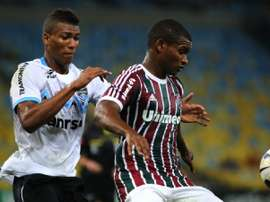 Marlon (R) will play a season for Barcelona B. Fluminense
