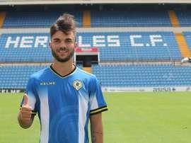 Álvaro Pérez se pone a disposición del equipo. Twitter/cfhercules