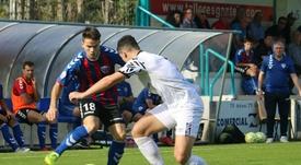 El Leioa ganó 2-1 al Salamanca y cogió aire. Twitter/SDLEIOAoficial/ArgazkiaLutxo