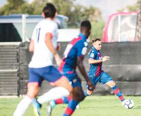 Roger Marti was able to score for Levante, before Bournemouth again got level. Twitter/LevanteUD
