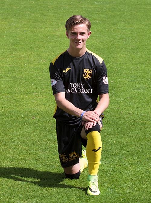 El futbolista del Livingston escocés, Matthew Knox. LivingstonFC