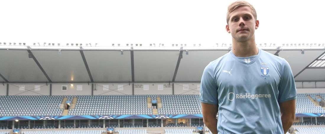 El futbolista del Malmö Erik Andersson jugará cedido en el Trelleborgs. MFF