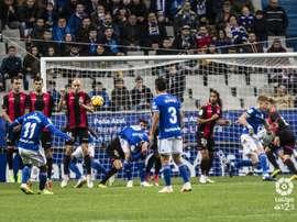 Bárcenas hizo el 2-0 con un genial lanzamiento de falta. LaLiga