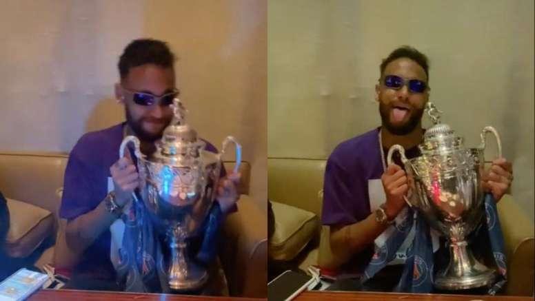 Neymar lleva el ritmo en la sangre. Capturas/TikTok/neymarjy
