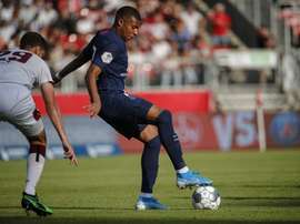 Mbappé firmó una hora a gran nivel. Twitter/PSG_Inside