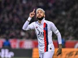 Neymar marcou na sua estreia pelo PSG Twitter/PSG_espanol