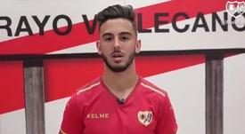 Andrés Martín quiere devolver al Rayo a Primera. Twitter/RayoVallecano
