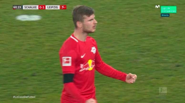 Timo Werner sentenció al Schalke 04 en el segundo tiempo. Movistar+