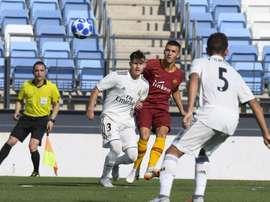El Madrid no dio opción a la Roma en Valdebebas. Twitter/ASRomaEN
