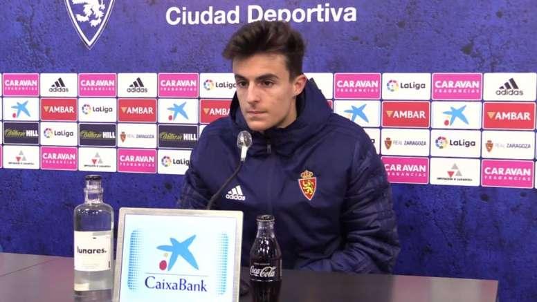El Zaragoza se enfrenta este viernes el Albacete. Captura/YouTube/RealZaragoza