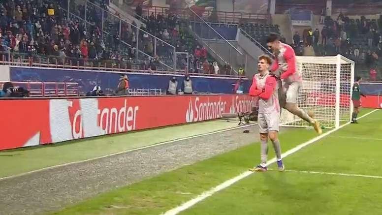 Berisha was the man of the match for Salzburg. Screenshot/MovistarLigadeCampeones