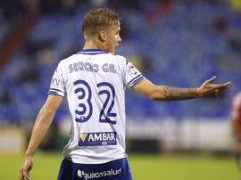 El futbolista del Zaragoza, Sergio Gil. Twitter