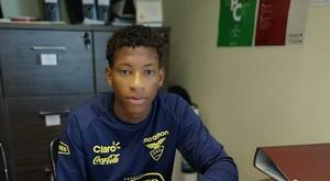 Gonzalo Plata assinou pelo Sporting. Twitter/Sporting_CP