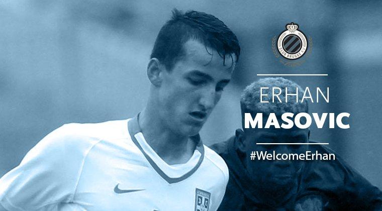 El futbolista Erhan Masovic, nuevo jugador del Brujas. ClubBrugge