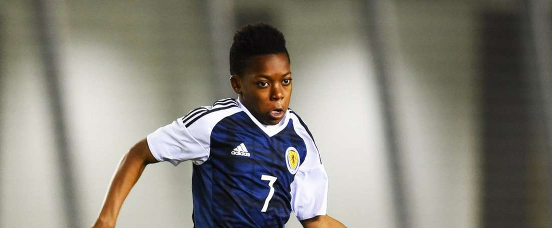 Scottish under-16 player Karamoko Dembele. Twitter/ScottishFA
