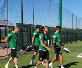 Problemas físicos no plantel do Sporting CP. Twitter/SCP
