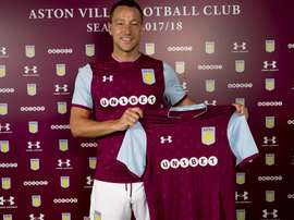 James Chester says that John Terry will help improve Villa. Twitter/AVFCOfficial
