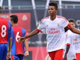 El futbolista juvenil del Benfica Gedson Fernandes, en un partido con el filial del conjunto lisboeta. SLBenfica