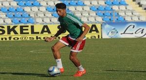 El futbolista marroquí del Real Madrid Achraf Hakimi, en un entrenamiento con la selección norteafricana. FRMF