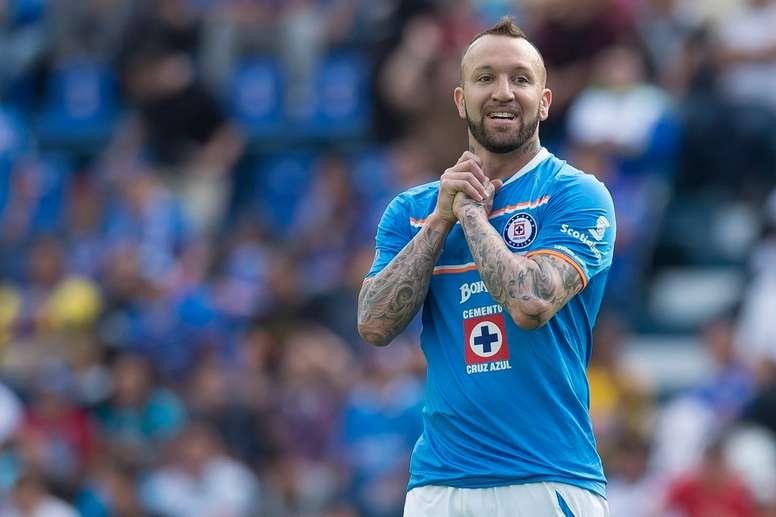 El futbolista mexicano de Cruz Azul Matías Vuoso, en un encuentro del equipo 'cementero'. Twitter
