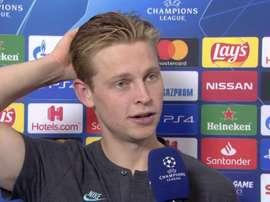De Jong a parlé de sa rencontre contre le Napoli. UEFA