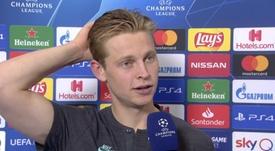 De Jong analisou sua partida contra o Napoli. UEFA